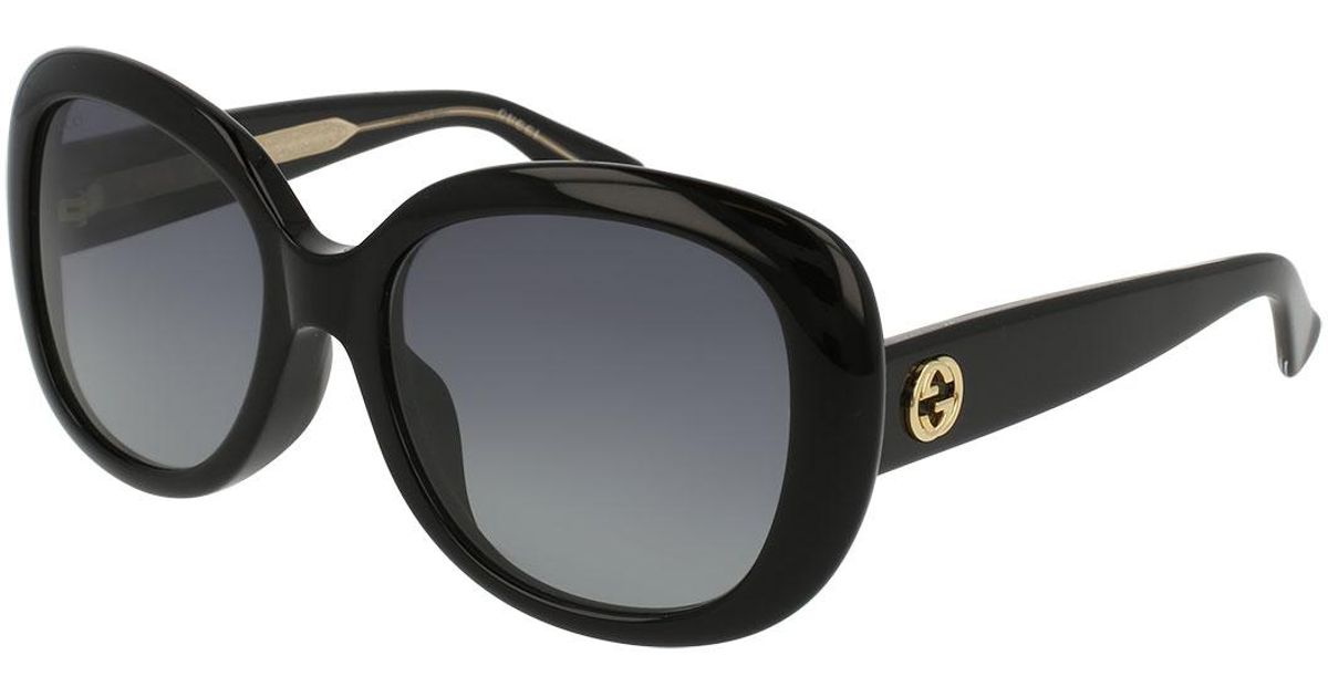 91dce52219b Lyst - Gucci Universal-fit Acetate Butterfly Sunglasses in Black