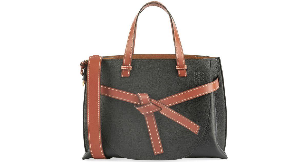 2cdb73cf50 Lyst - Loewe Gate Small Leather Top-handle Tote Bag