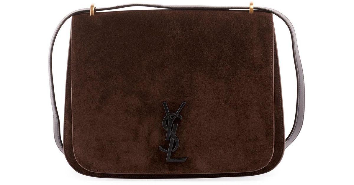 50e966f164 Lyst - Saint Laurent Monogram Ysl Spontini Medium Satchel Bag in Brown