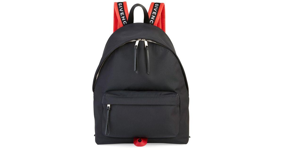 f2c17940ab6b Lyst - Givenchy Men s Nylon Logo-strap Backpack in Black for Men