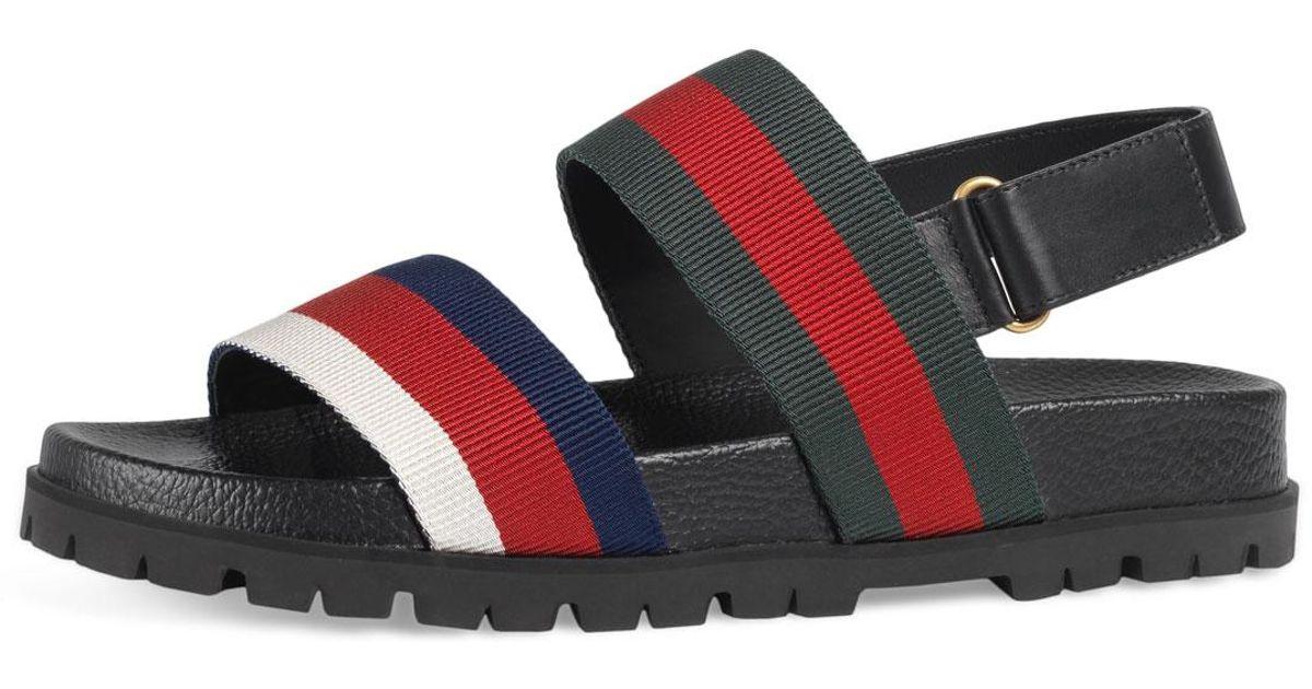 87ec7a6cf86320 Lyst - Gucci Rimini Double-strap Sandal for Men