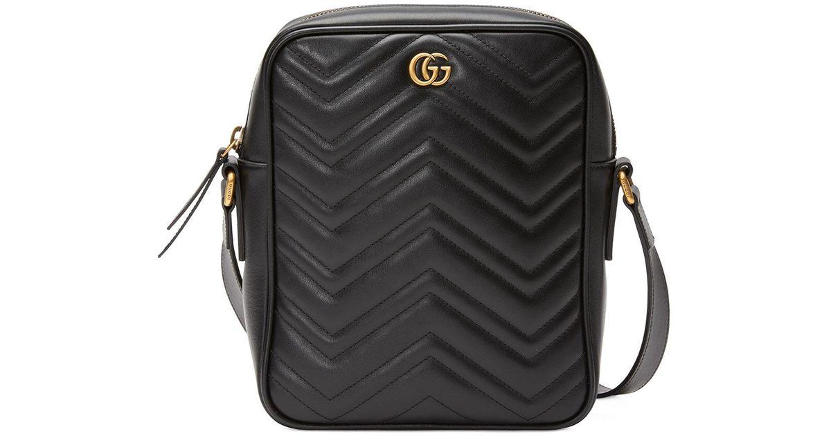 1e1312dfb8f Lyst - Gucci Men s GG Marmont Crossbody Bag in Black for Men