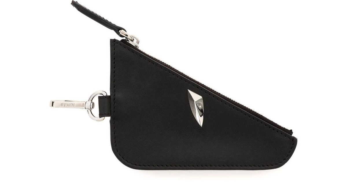 cd6bd29636 Fendi Monster Eye Zip-top Coin Pouch/bag Charm in Black - Lyst