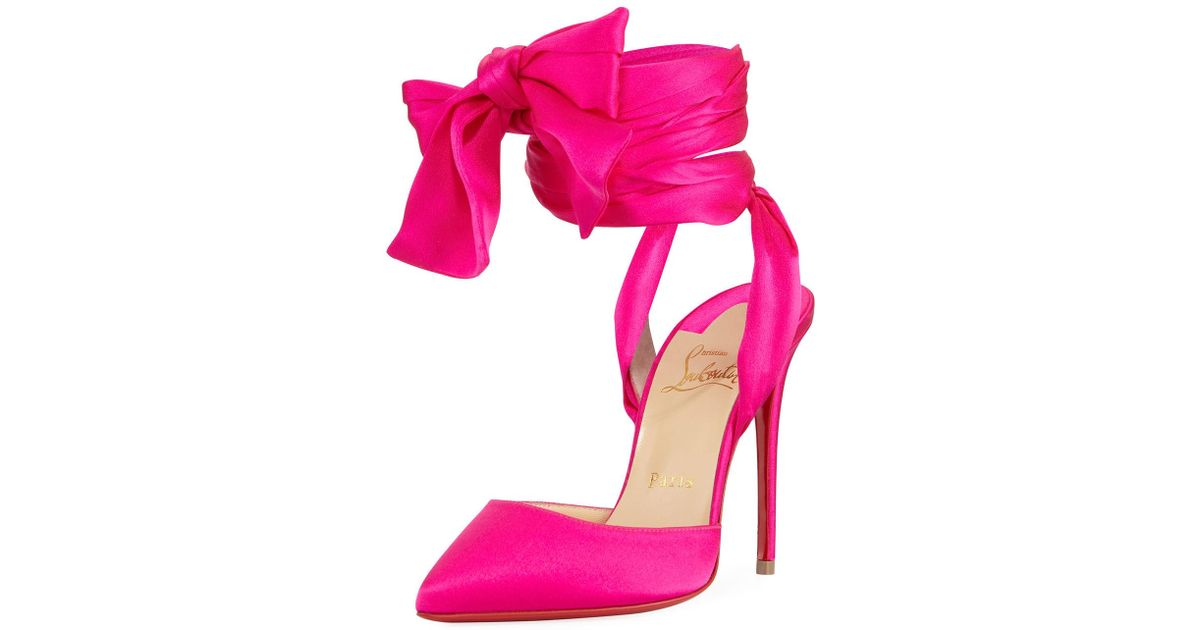 3c59909074c Lyst - Christian Louboutin Douce Du Desert Red Sole Pump in Pink