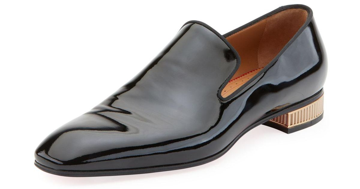 eeeb47e6c0a Lyst - Christian Louboutin Men s Colonnaki Patent Leather Loafer in Black  for Men