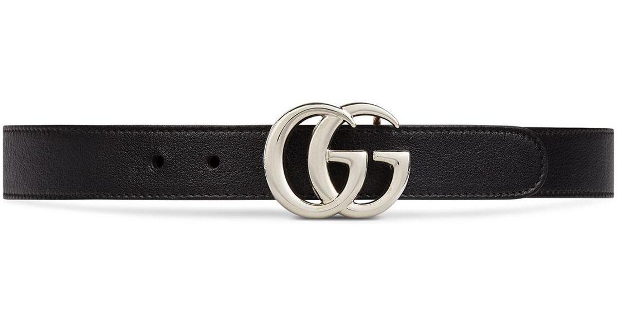 75a87ff117d Lyst - Gucci Kid s GG Leather Belt - Black in Black
