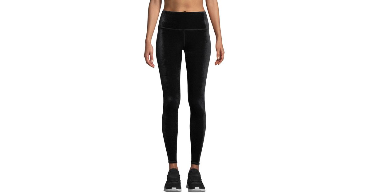 94e9fec3d8cbd Lyst - Alo Yoga Posh High-waist Velour Leggings in Black