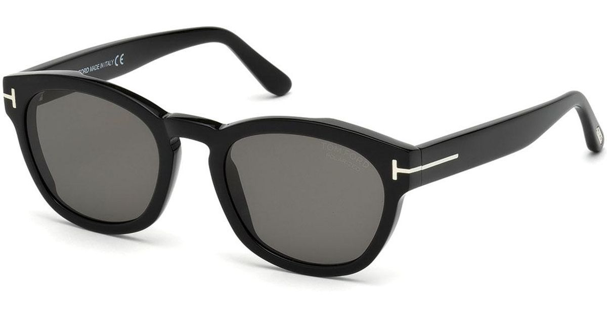 9f6f872618 Lyst - Tom Ford Bryan Rounded Plastic Sunglasses in Black for Men