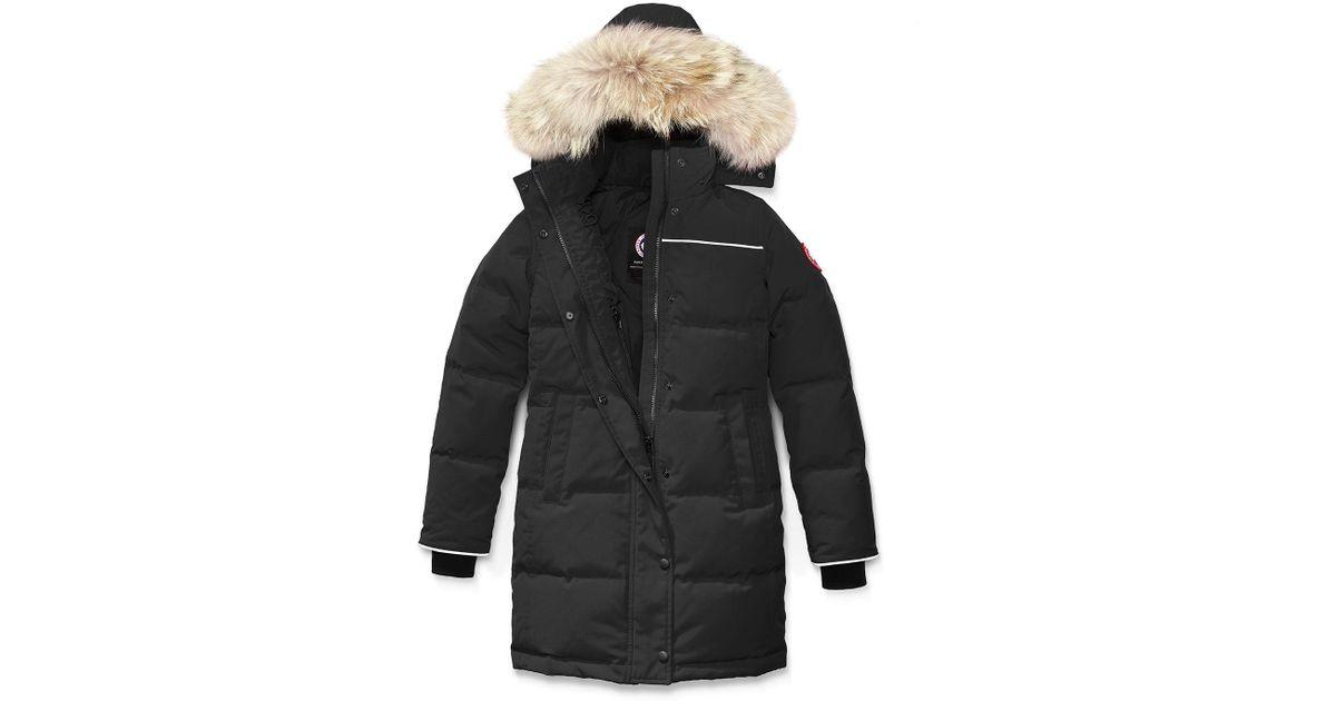 bf63afb65f4 Canada Goose - Black Youth Juniper Parka W/ Removable Fur Trim - Lyst