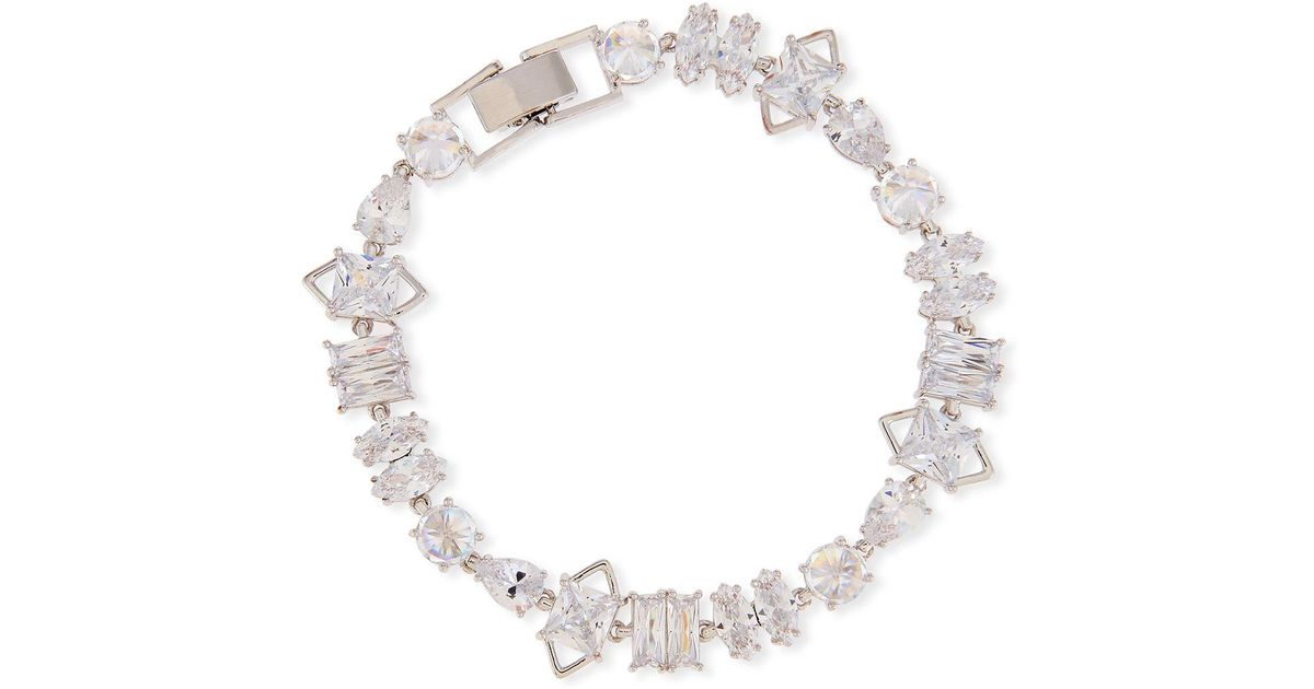 Fallon Jagged Edge Cubic Zirconia Bracelet yY6l2RdbD