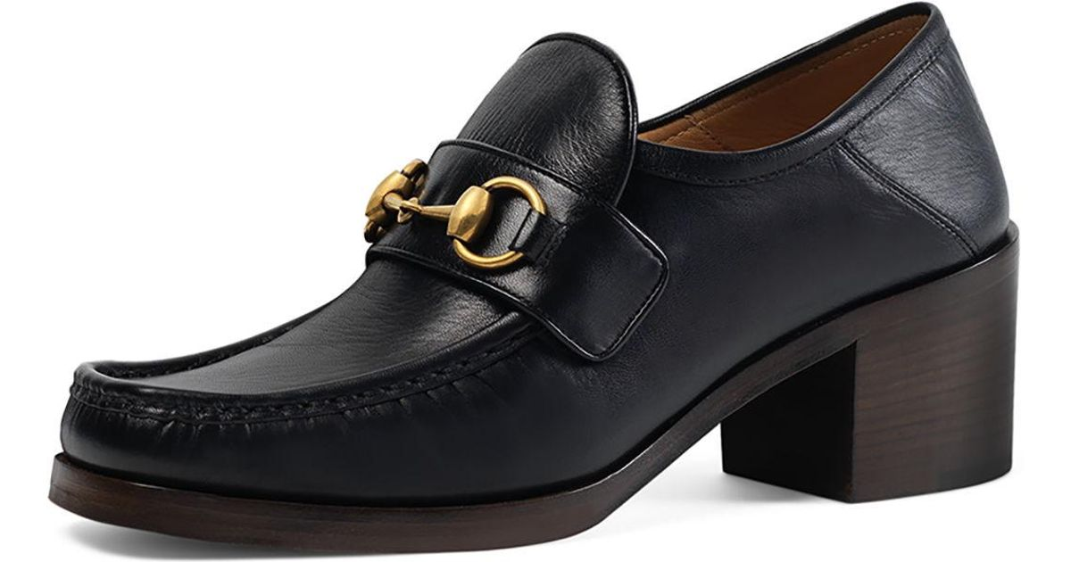 4ff7379f9493 Lyst - Gucci Vegas Horsebit 55mm Loafer in Black