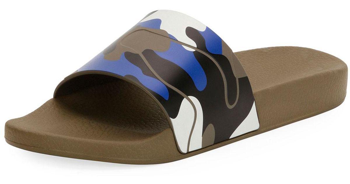 Valentino Camouflage Slides HZV8V