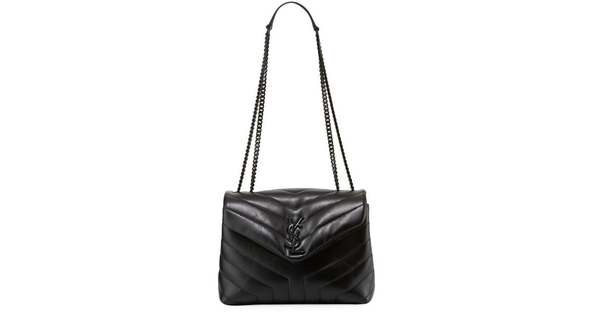 Lyst - Saint Laurent Monogram Ysl Loulou Small Chain Shoulder Bag in Black bcc3aaab84553