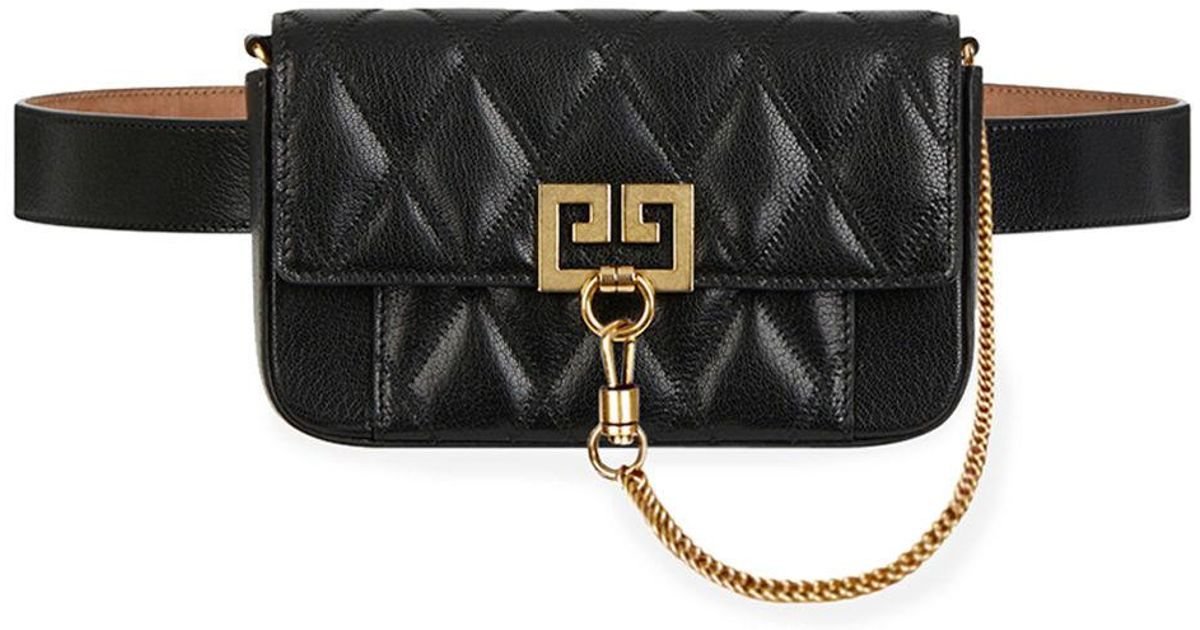 7dd551f34ab8 Lyst - Givenchy Pocket Mini Pouch Convertible Clutch belt Bag - Golden  Hardware in Black