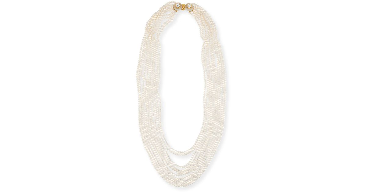 Oscar De La Renta Multi-Strand Simulated Pearl Necklace