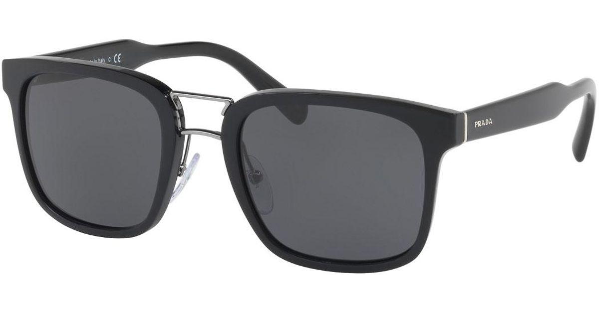 459d0068805 ... france lyst prada mens oversized square acetate sunglasses in black for  men dca9a e2dd4