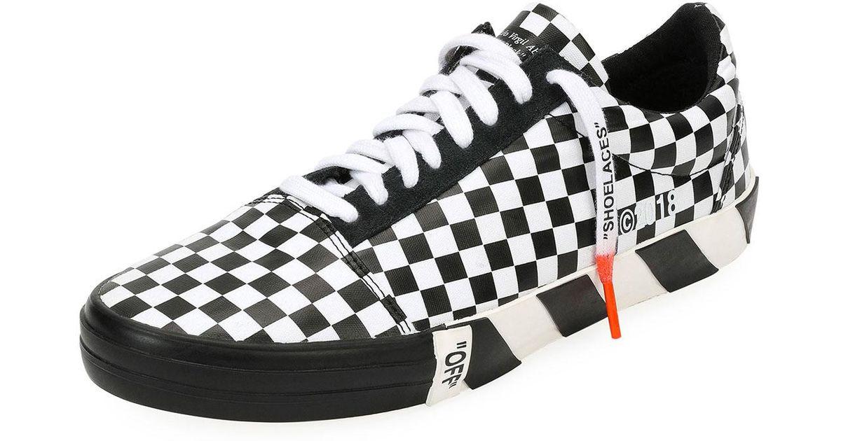 051b4ebf4cf Lyst - Off-White c o Virgil Abloh Men s Vulc Checkered Low-top Sneaker for  Men