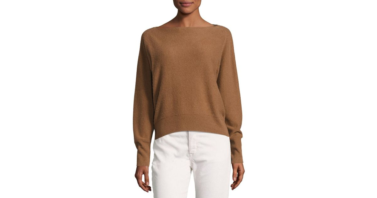 f9fd25529c Lyst - Vince Boat-neck Long-sleeve Cashmere Sweater