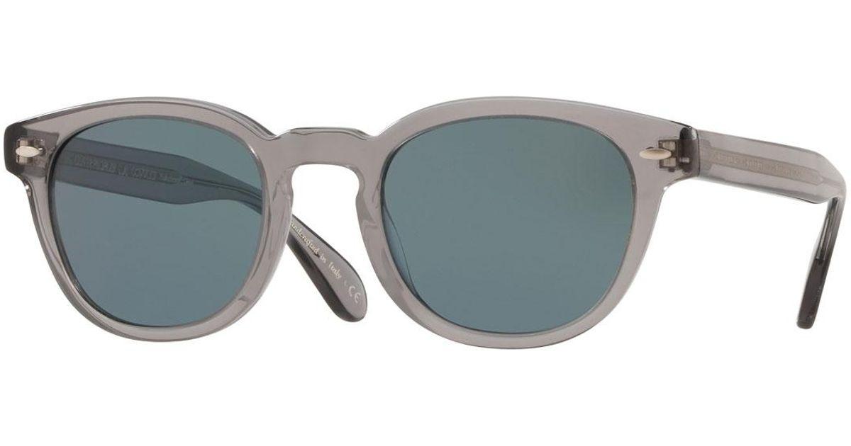 09d4d387bf Lyst - Oliver Peoples Men s Sheldrake Round Photochromic Sunglasses - Workman  Gray in Gray for Men