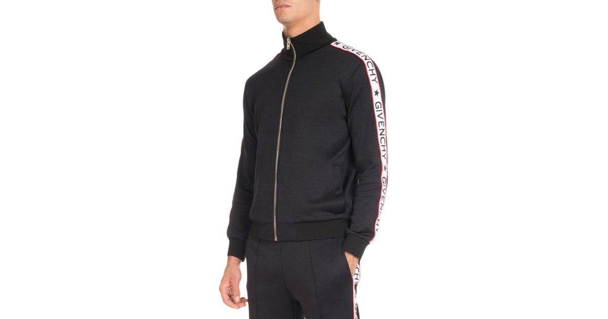 a96047431 Givenchy Track Jacket With Logo Taping in Black for Men - Lyst
