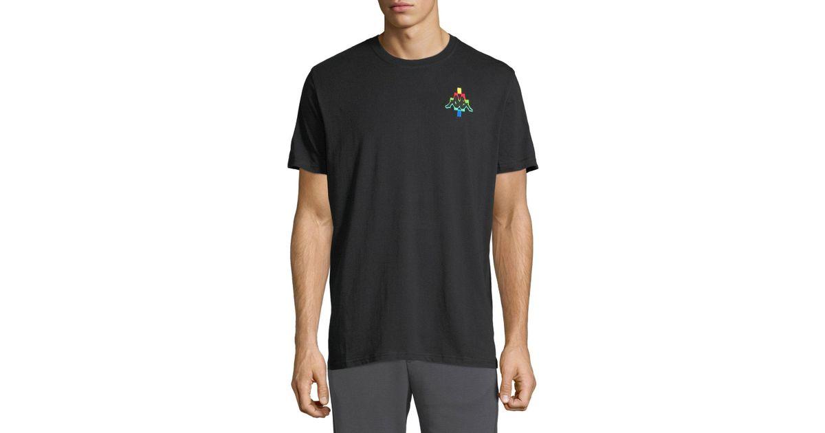 9eb430a2a245 Lyst - Marcelo Burlon Men s Kappa Multicolor-logo T-shirt in Black for Men