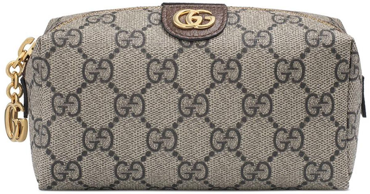 9e007f6c1b7 Lyst - Gucci Ophidia Mini GG Supreme Cosmetics Clutch Bag in Natural