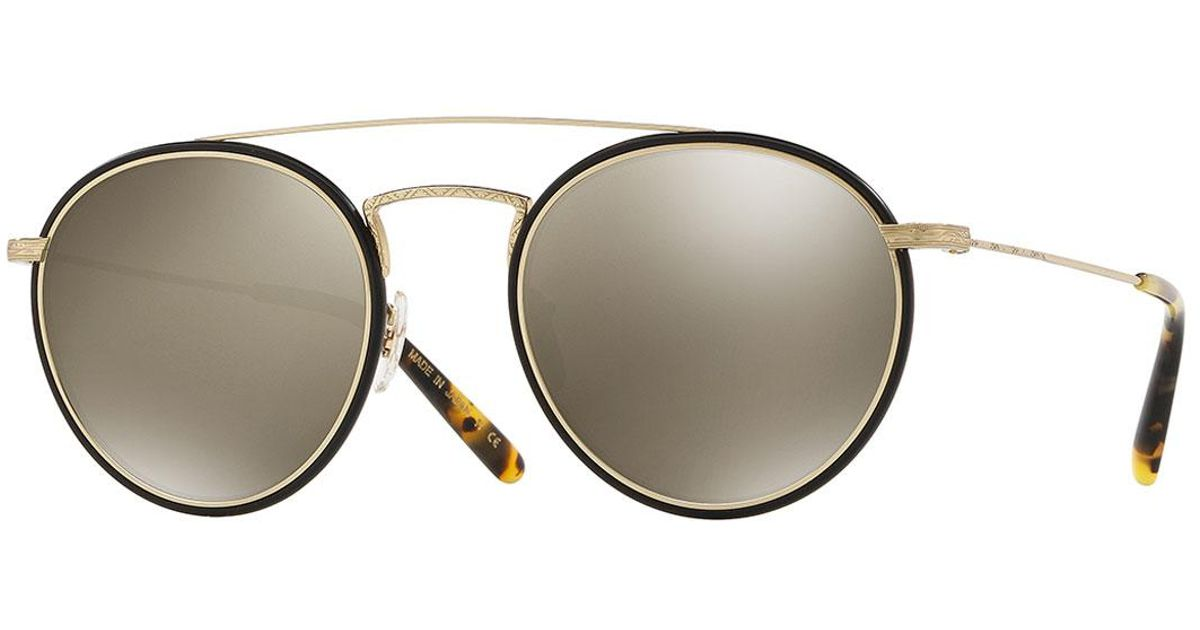 282dad0d1937 Lyst - Oliver Peoples Men s Row Ellice Round Metal acetate Sunglasses in  Gray for Men
