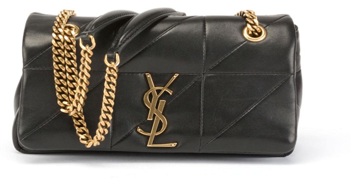 Lyst - Saint Laurent Jamie Small Diamond-quilted Chain Shoulder Bag in Black f26aa0eaacd0e
