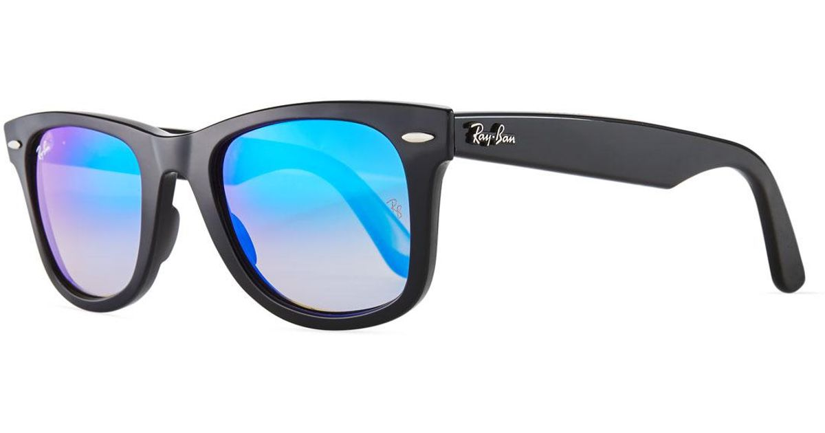 aec991d41f4 Lyst - Ray-Ban Wayfarer Ease Sunglasses With Metallic Lenses in Blue
