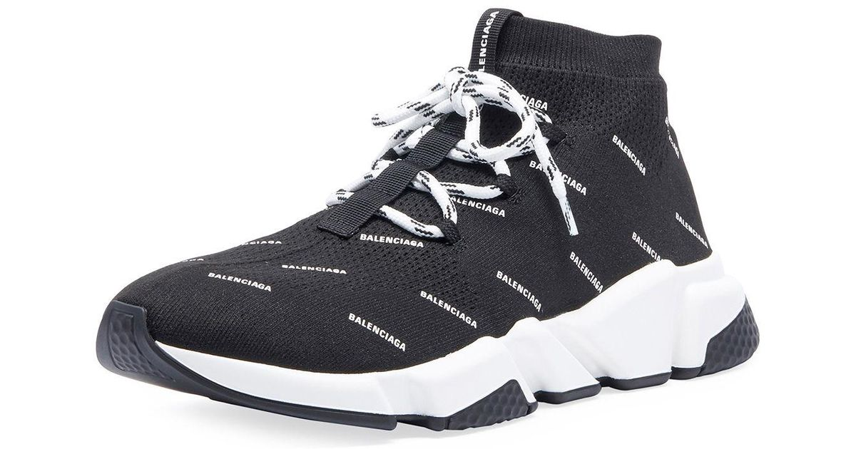 51b3554b3bf8 Lyst - Balenciaga  speed  Sneakers With Sock in Black for Men - Save 11%