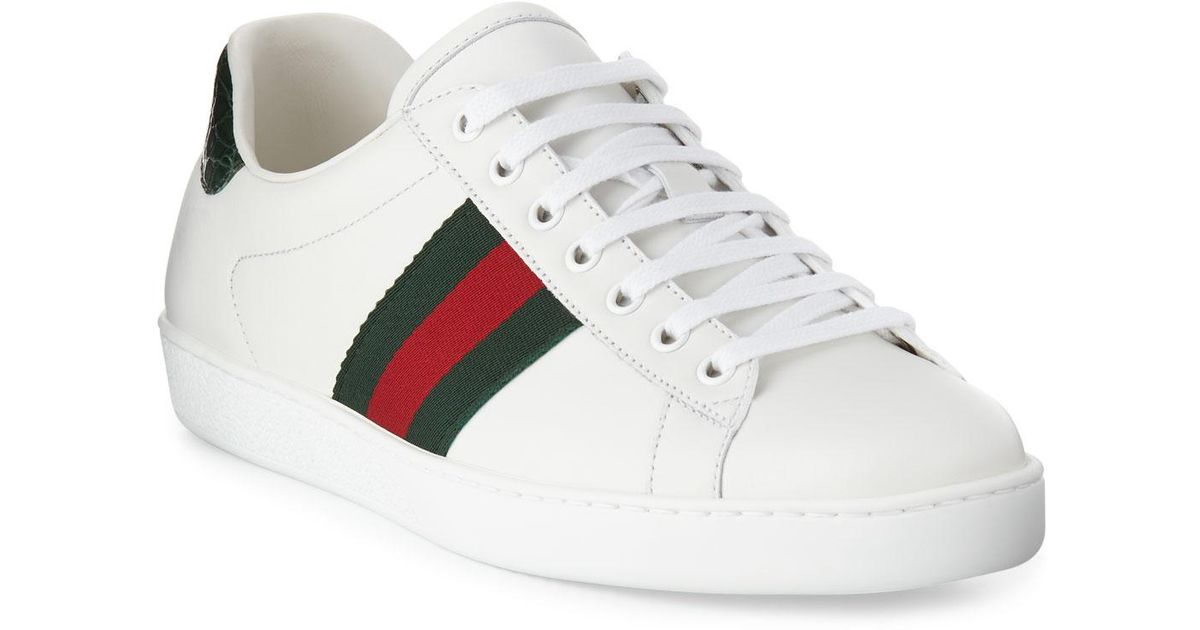 e028c4edf13 Lyst - Gucci Men s New Ace Leather Low-top Sneakers in White