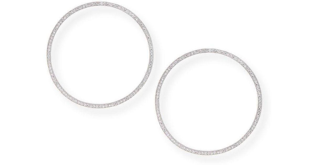 Fallon Cheekbone Pavé Crystal Hoop Earrings qAxo5