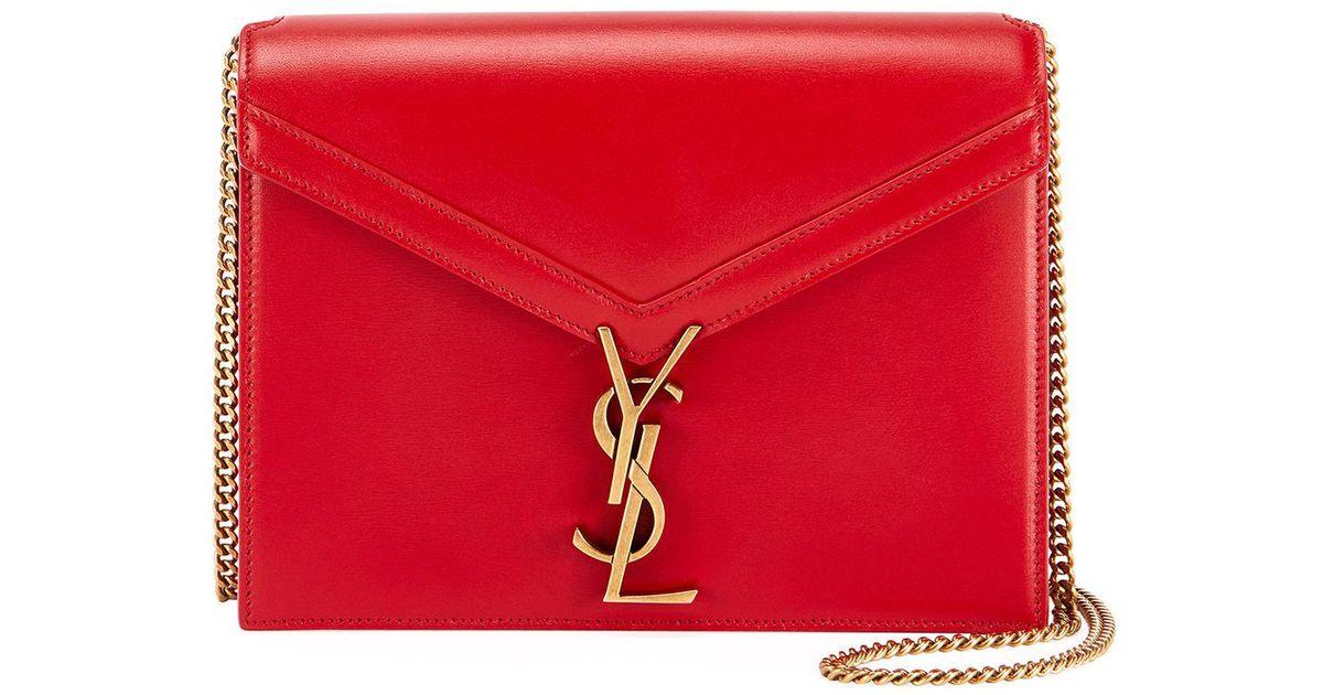 40ff9911425d Lyst - Saint Laurent Marceau Monogram Ysl Chain Crossbody Bag in Red