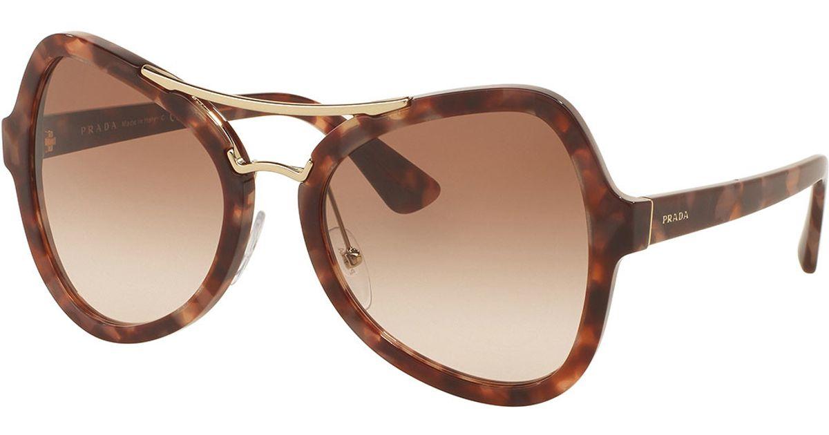 df813c437d6 Prada Gradient Oversized Aviator Sunglasses in Brown