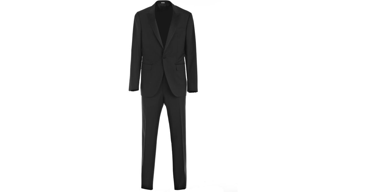buy popular 311a1 da262 Lanvin - Black Abito Smoking for Men - Lyst