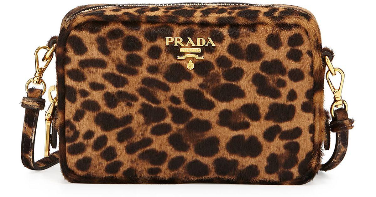 Lyst prada leopard print calf hair mini crossbody bag thecheapjerseys Choice Image