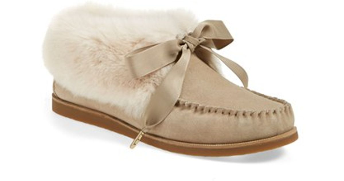 Tory Burch Aberdeen Fur-Trimmed Moccasins big discount sale online new arrival sale online discount explore get to buy sale online fabfo5