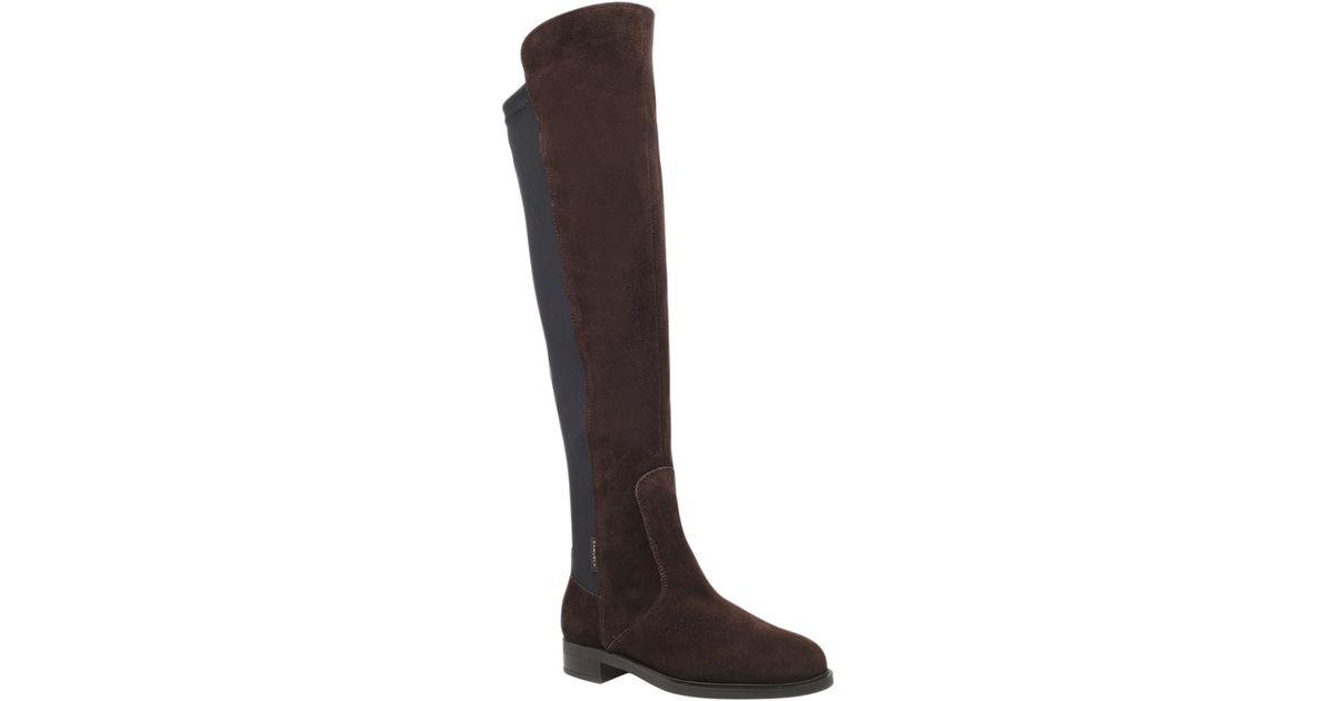af67efae50d3 Carvela Kurt Geiger Walnut Suede Flat Knee High Boots in Brown - Lyst
