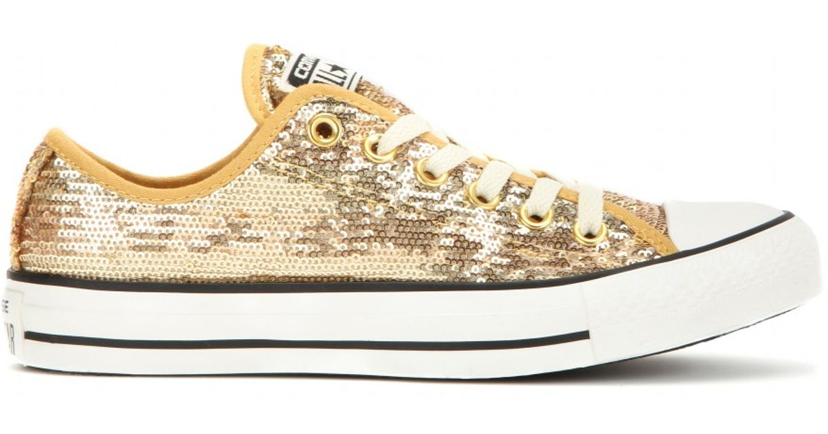 Lyst - Converse Chuck Taylor All Star Sequin Sneakers in Metallic d5d858e1d