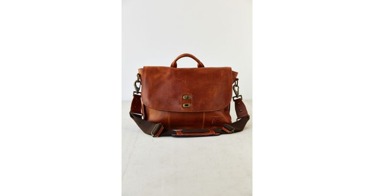 Lyst - Will Leather Goods Kent Messenger Bag in Brown for Men e5ee2df656