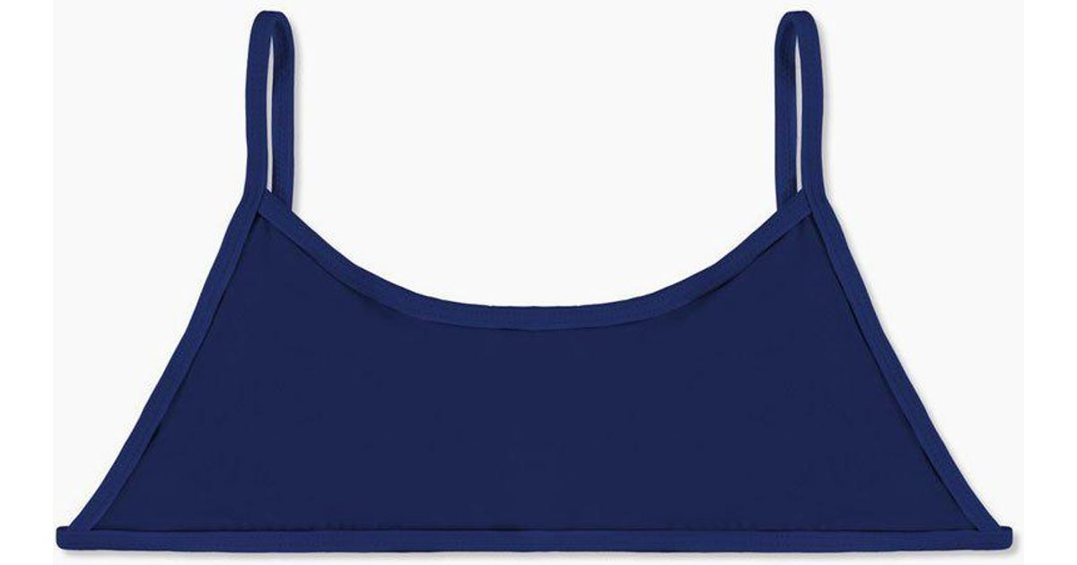 8eb93a10a7c93 The Ones Who Ava Sporty Bikini Top - Navy Blue in Blue - Lyst
