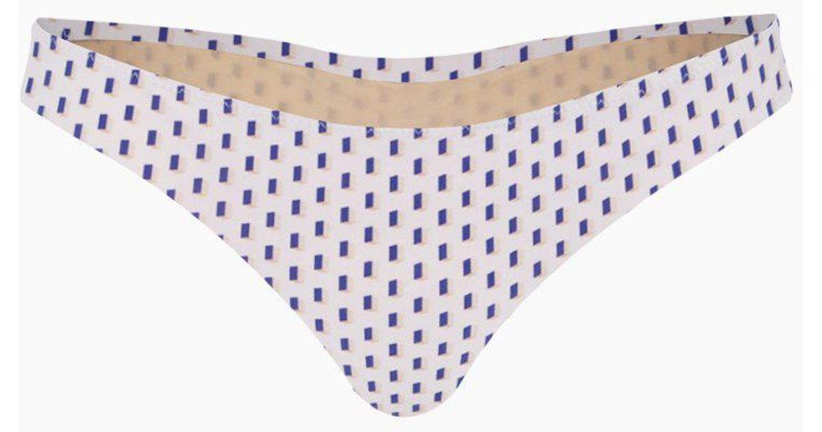 10bf20d3c3 Lyst - Evarae Melita Classic Bikini Bottom - White   Blue Dot Print in Blue