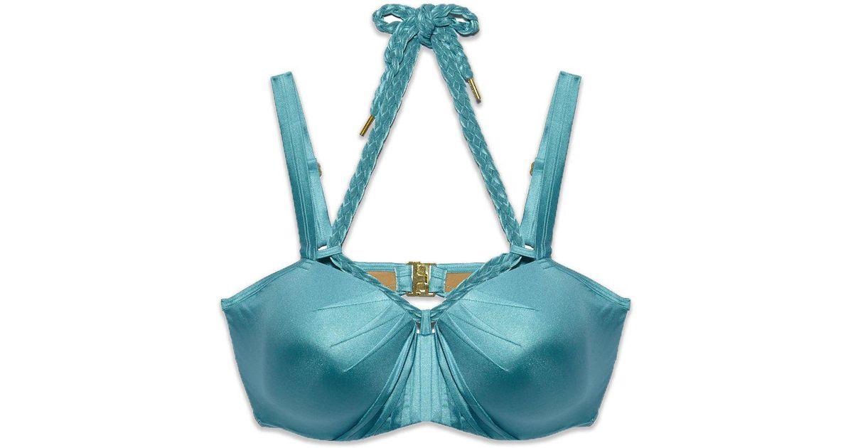 cf5eaf5394ce0 Marlies Dekkers Holi Glamour Wired Padded Push Up Bikini Top - Aqua Blue in  Blue - Lyst