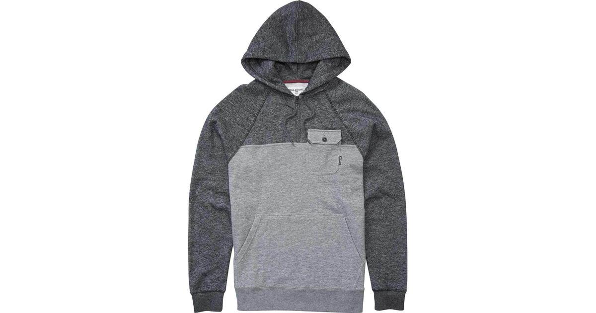 f566318e9a3 Lyst - Billabong Balance Half Zip Pullover Hoodie in Gray for Men