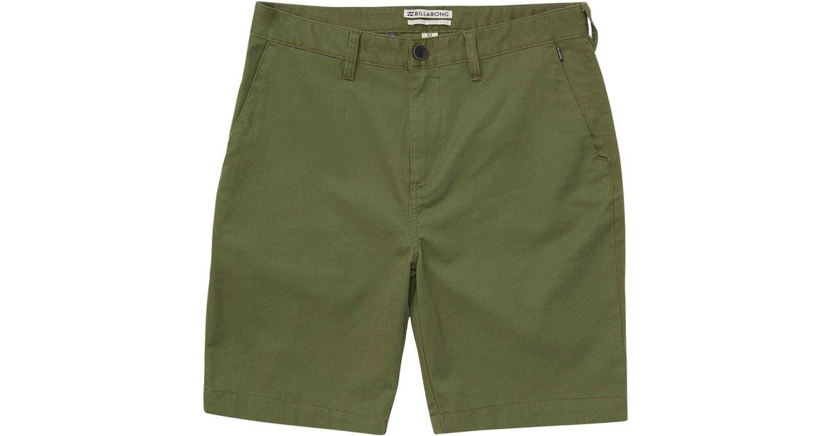 05fc05a1bd Billabong Carter Stretch Walkshort in Green for Men - Save 66% - Lyst