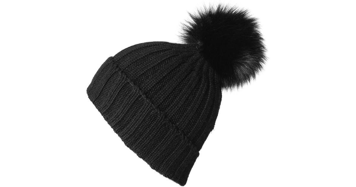 b068aab6aa4 Lyst - Black.co.uk Black Cashmere Fur Pom Pom Hat in Black for Men