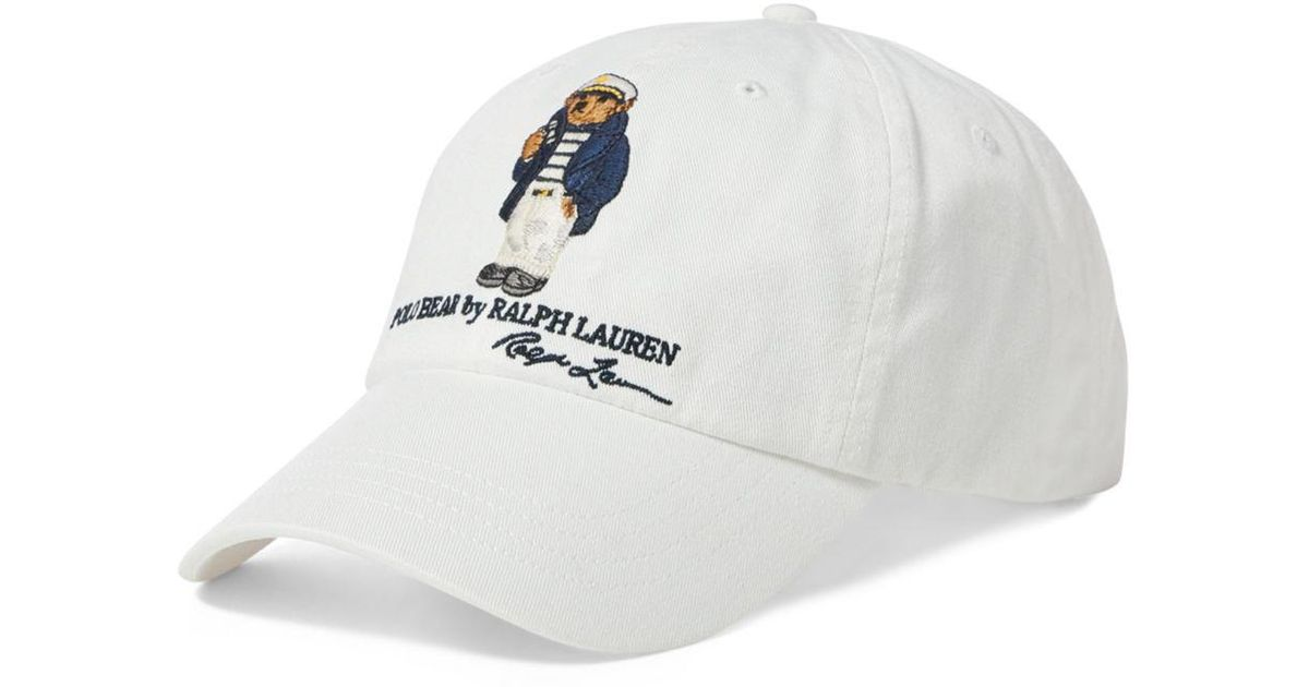 b37881bfff2 Lyst - Polo Ralph Lauren Dive Bear Chino Cap in White for Men