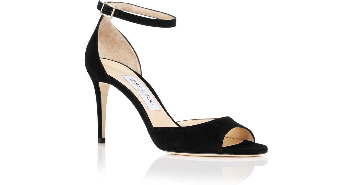 Jimmy choo Women's Annie 85 Suede High-Heel Ankle Strap Sandals d6UbeX6YoK