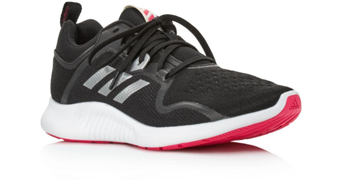 huge inventory 533d1 0923c Lyst - adidas Womens Edgebounce Mesh Lace Up Sneakers in Black - Save 18%
