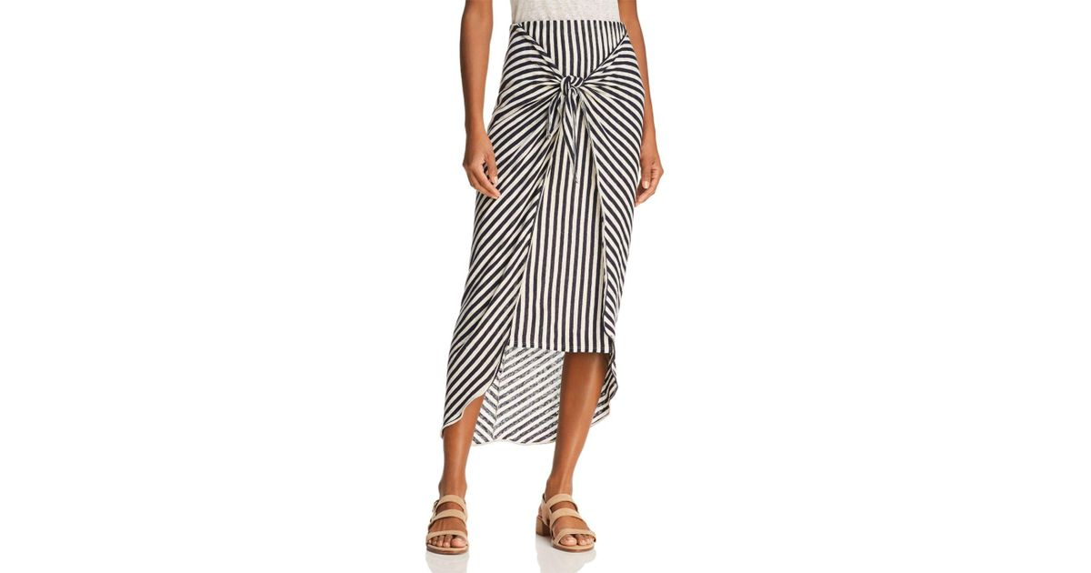 1d12a812aaa1 Splendid X Margherita Tie-front Striped Sarong Skirt - Lyst